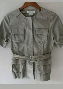 Michael Kors Sz 6 Khaki Belted Safari Jacket
